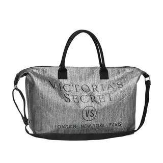 Instock! VS VICTORIA'S SECRET Go Big Sparkle 2-Way Carry Tote / Sling Bag (Silver) PO111500163 + FREE Post!