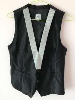 POA Black Satin Vest
