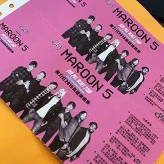 MAROON 5 3/1號高雄國家體育場搖滾區特A15區