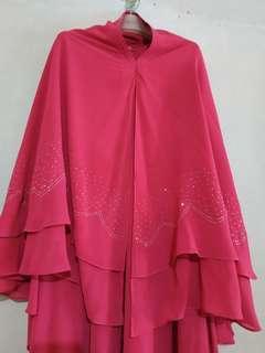 Gamis syar'i+hijab mewah