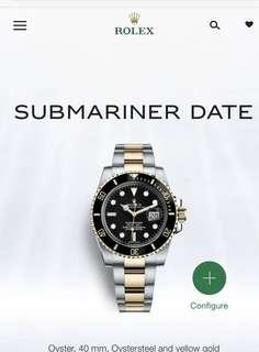 Submariner Date Half gold
