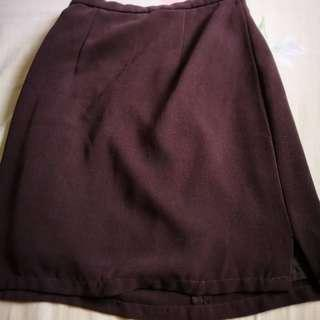 Brown Short Skirt (formal) #PRECNY60
