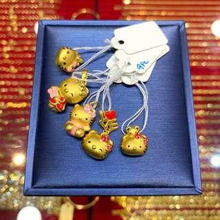 999 pure gold hello kitty pendants