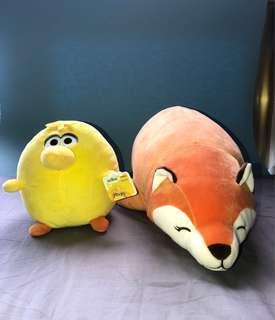 Fox and Big Bird Stuffed Toy