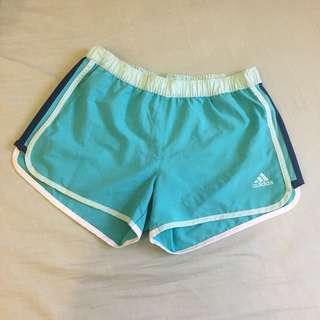 🚚 Adidas女慢跑運動短褲藍色xs號,s、m號可穿