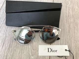 Dior So Real Sunglasses (silver mirror)