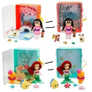 [Juniorcloset] 🆕️ authentic Exclusive Disney Animators' Collection Mulan Mini Doll Playset /Ariel Mini Doll Playset The little Mermaid