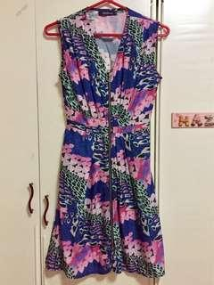 Zippered floral dress