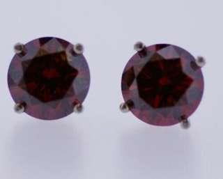 1ct Natural Red Diamond Stud