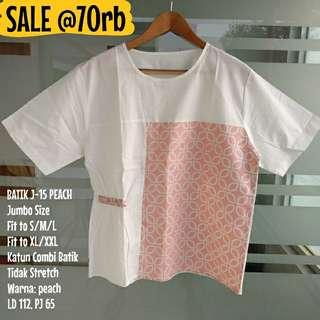 SALE [NEW] BLOUSE BATIK WANITA J-15 PEACH