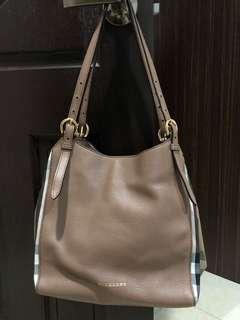 Authentic Burberry Canterbury Leather House Check Tote