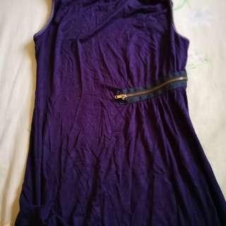 Sleeveless Purple Dress #PRECNY60