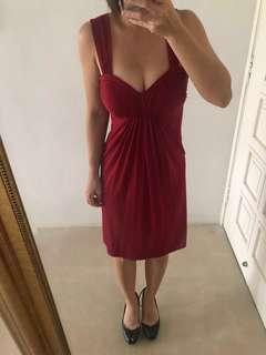 BCBG maroon dress