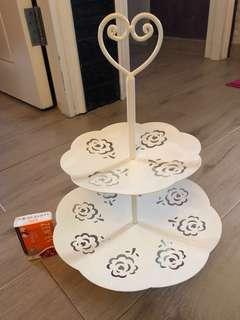 2層cupcakes 盤