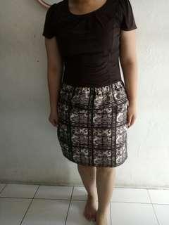 #bersihbersih dress coklat