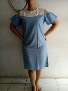 #bersihbersih dress biru