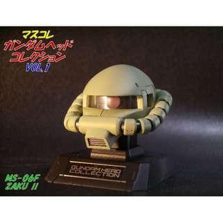 全新未拆袋 Bandai 高達頭像 Gundam Head Collection vol.1 No.07 Zaku 發光台座