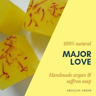 Argan & saffron handmade soap