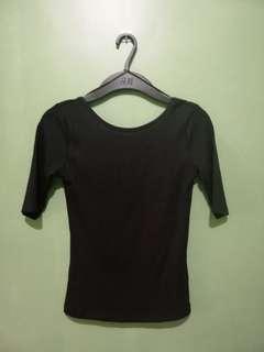 Low Back Top | Black