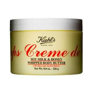 Kiehls Crème de Corps Soy Milk and Honey Whipped Body Butter 科顏氏 經典潤膚乳霜 226g