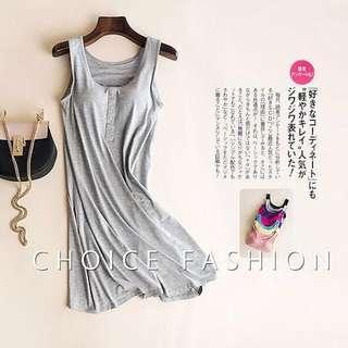 🚚 Bra Dress / Padded Cami Dress in Grey