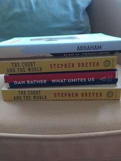 Alan Dershowitz Dan Rather and Stephen Breyer