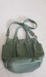 Army green sling bag
