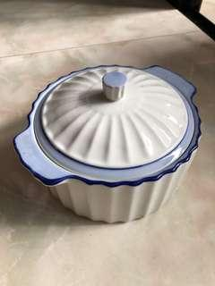English Pot With Cover
