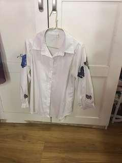 White shirt butterfly