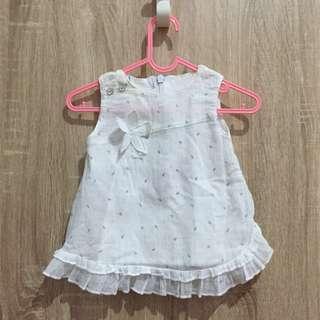 Newborn Dress Putih