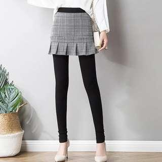 legging pant with skirt