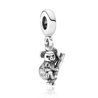 Pandora Koala Tree Hanging Charm GENUINE (Obsolete)