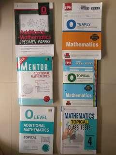 O Level Additional Mathematics  and Elementary Mathematics