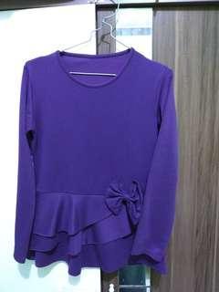 Atasan cantik warna ungu #bersihbersih