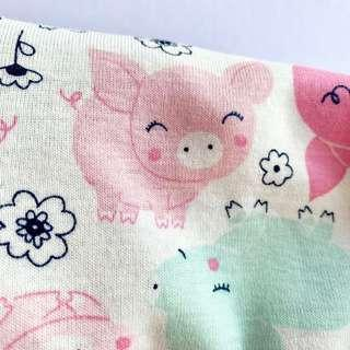 🌈 Bean Sprout Husk Pillow / Beanie Pillow ( 100% Handmade ) Jersey Cotton , Premium Quality!) size 15 x 40cm Pig piglet oink oink 🐷