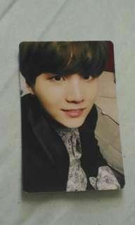 BTS Suga autographed card