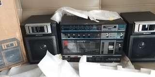 罕有80年代 sony全新音響組合 未使用 全正常