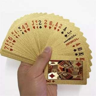 🚚 Golden Foil Poker Cards (Pre-Order ONLY)