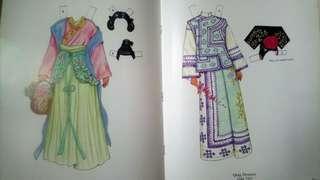 紙娃娃書-紙娃娃2個+16套衣服-中國仕女篇