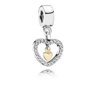 Pandora Forever in my Heart Dangling Charm GENUINE
