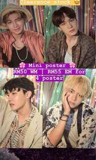 [WTS] BTS 2018 SUMMER PACKAGE - MINI POSTER