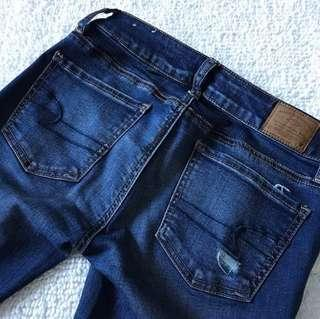 American Eagle Jeggings Distressed