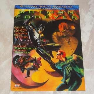 Batman Forever Official Movie Magazine 1995 Deluxe Collectors' Edition Batmobile Two-Face Riddler Val Kilmer Jim Carrey Topps Mint