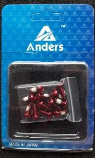 Brand New Anders T25 Red rotor bolts