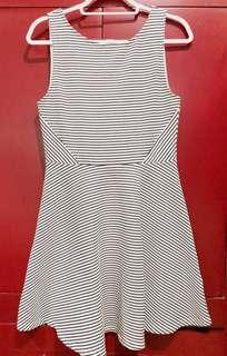 H&M   Divided Striped Dress