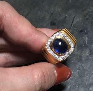 916 Gold Sapphire Ring