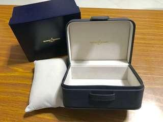 Authentic Ulysse Nardin New Old Stock (NOS) Blue Watch Box Pristine Condition