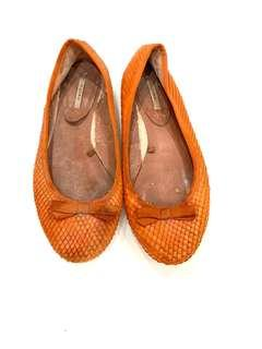Zara Croco Orange