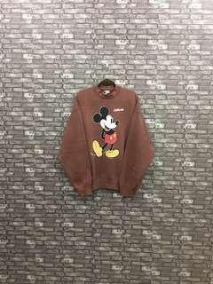 Mickey Mouse Sweatshirt / Brown Mickey Family 90s Cartoon