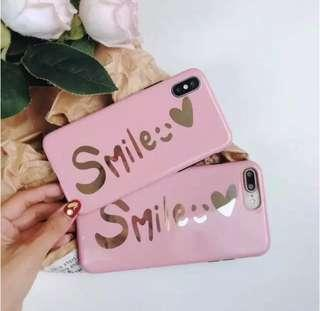 Iphone XR 🎀 手機殻 case apple mobile 手機套 電話殻 粉紅色 金色 smile 少女 粉色 手機軟殼